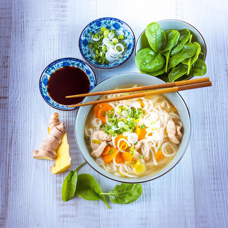 Udon with Chicken and Vegetables