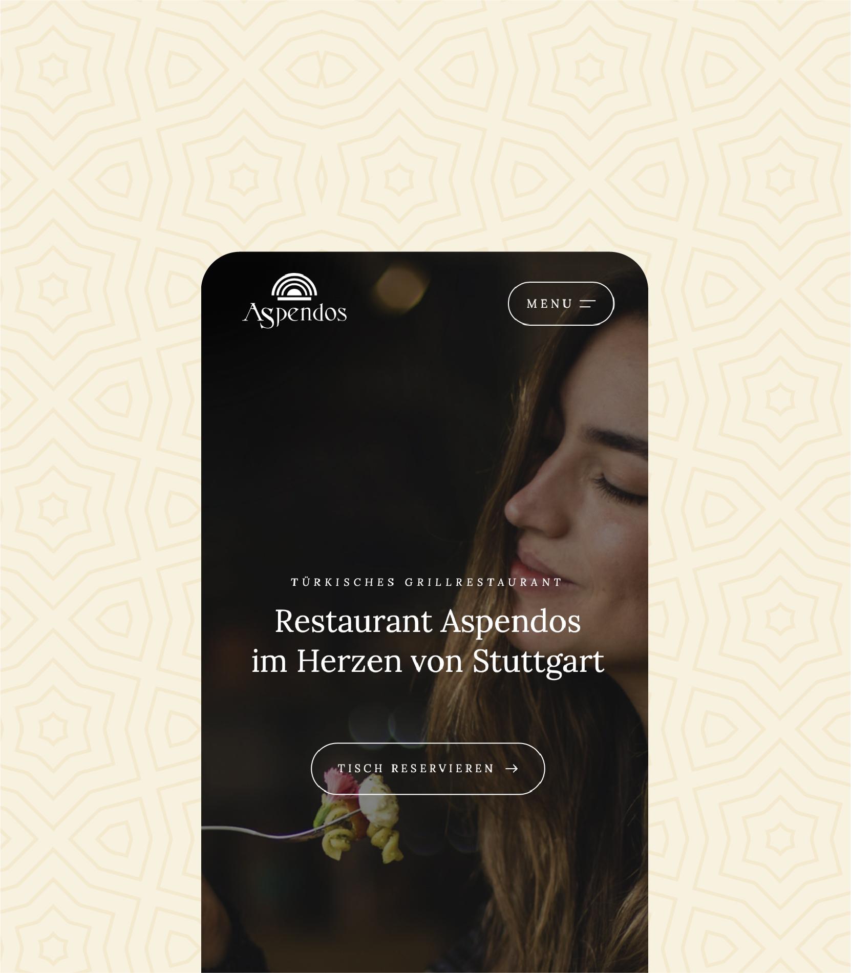 Website und Buchungstool — Restaurant Aspendos