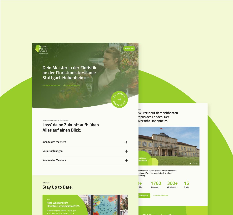 Webdesign & Rebranding für die Floristikschule aus Stuttgart-Hohenheim