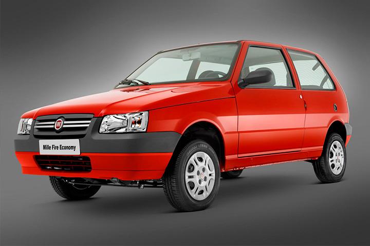 Fiat Uno Mille Economy em foto de estúdio