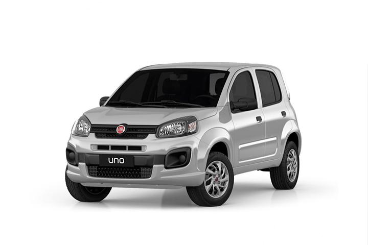 Carro Fiat Uno Attractive em fundo branco