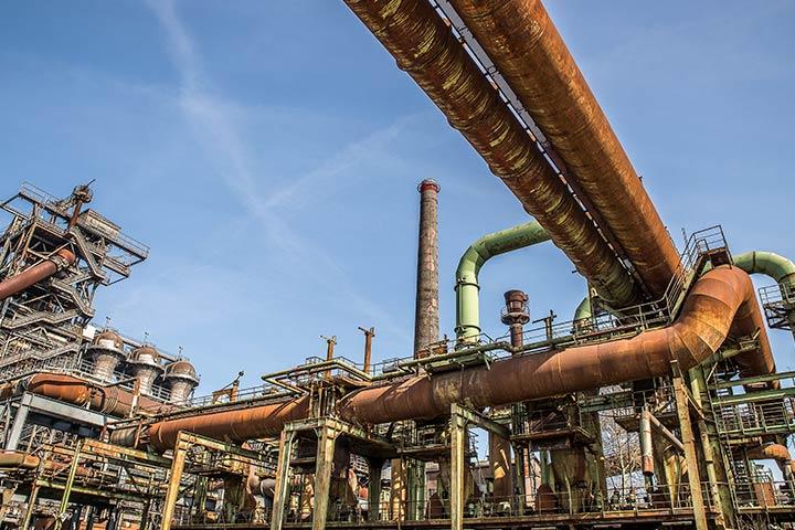 Sistema de tubos e encanamentos de Refinaria de Gás