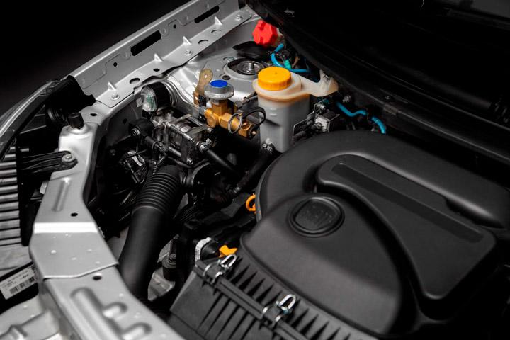 Motor de Fiat Grand Siena adaptado para combustível GNV