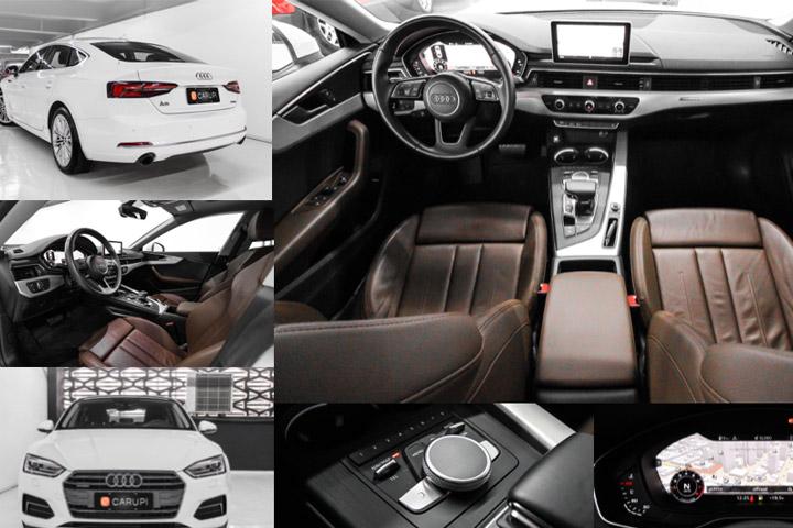 Mosaico de imagens profissionais feitas pela CARUPI para vender os carros de seus clientes