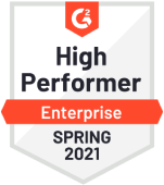 G2 High Performer Spring 2021 badge
