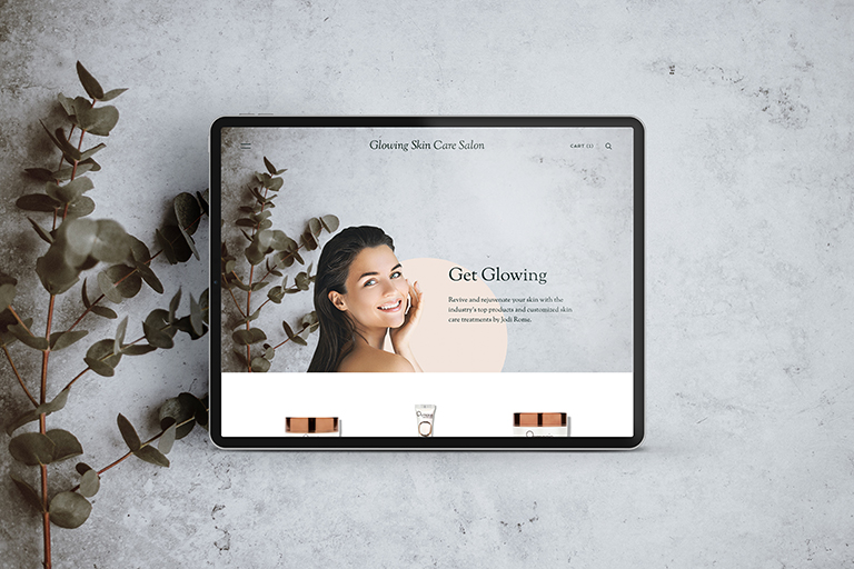 Glowing Skin Care website by CGDL