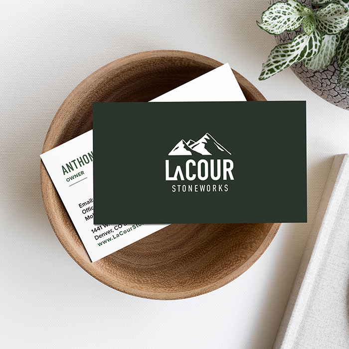LaCour Stoneworks logo design by CGDL