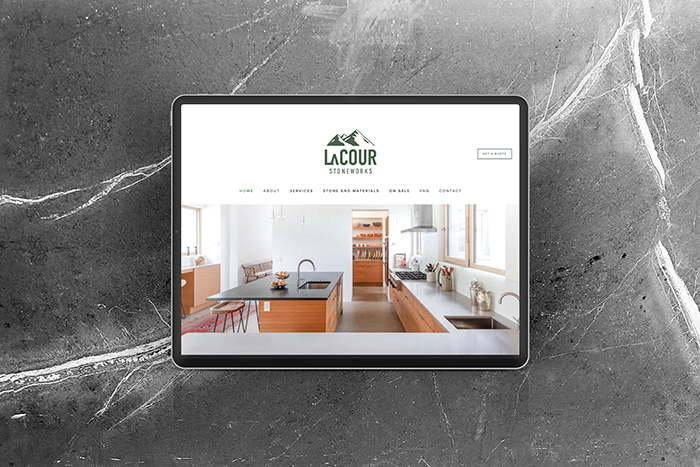 LaCour Stoneworks website by CGDL