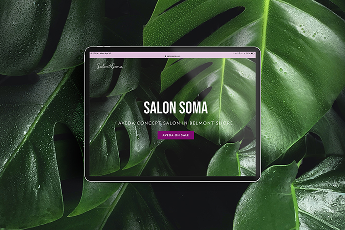 Salon Soma website by CGDL