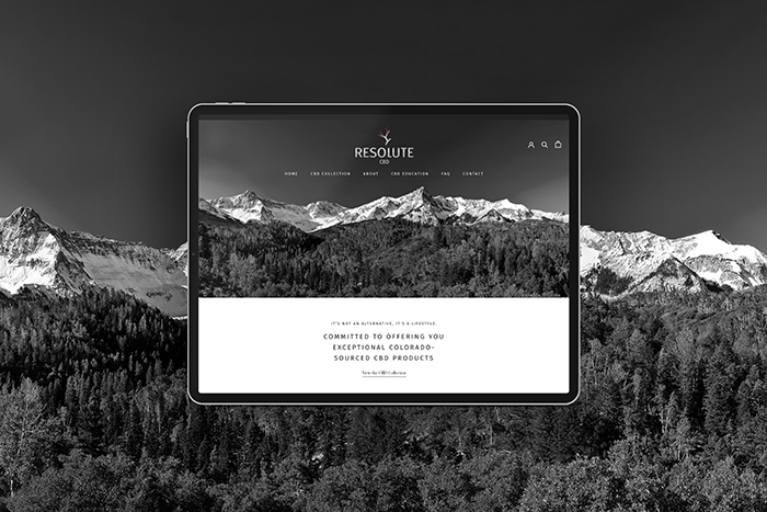 Resolute CBD website by CGDL