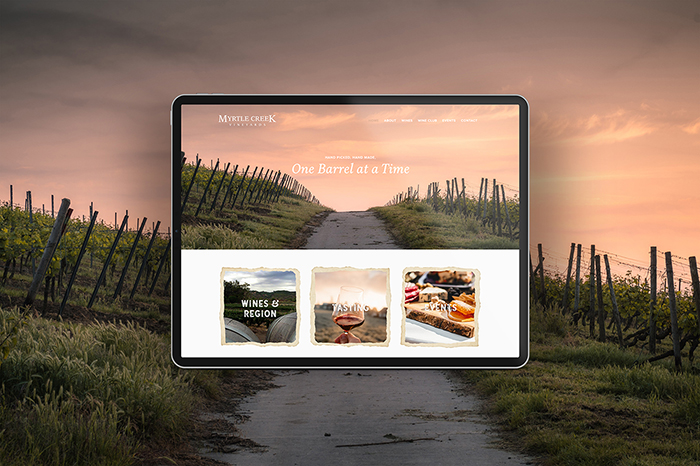 Myrtle Creek Vineyards website by CGDL