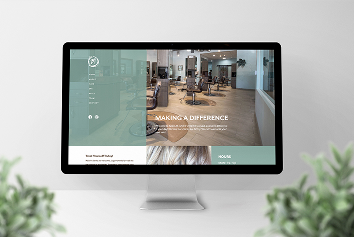 Salon 29 website by CGDL
