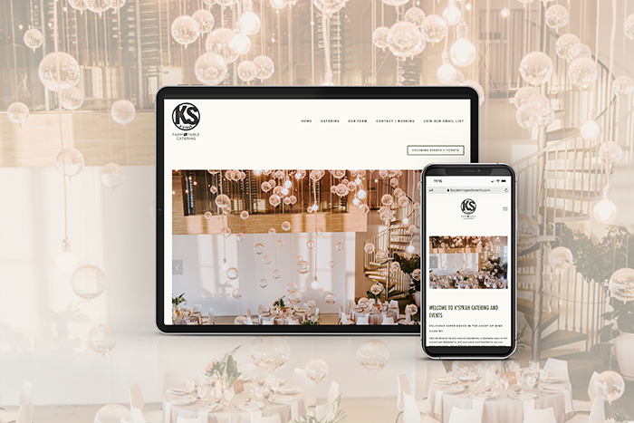 K'Syrah Catering website by CGDL
