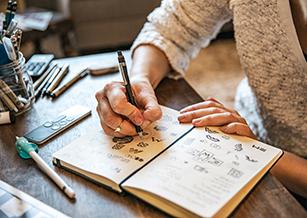 sketching logos