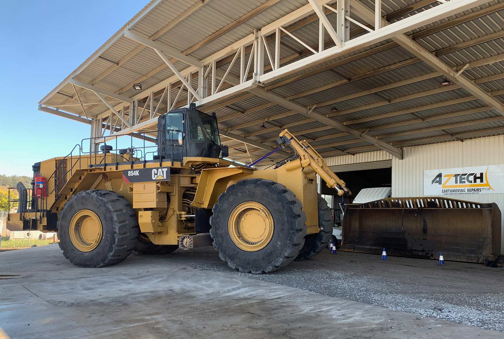 854K Wheel Dozers parked at Atech