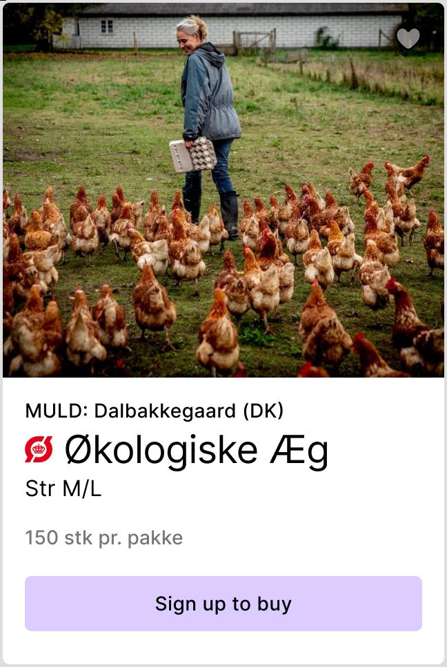 Product preview of Økologiske Æg from Dalbakkegaard - Link to sign up