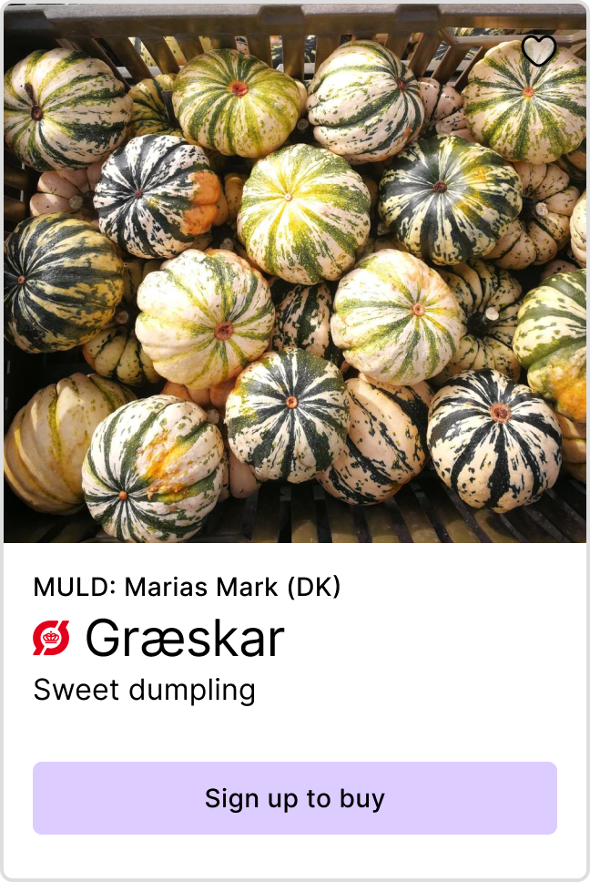 Product preview of Pumpkin from Marias Mark - Link to sign up