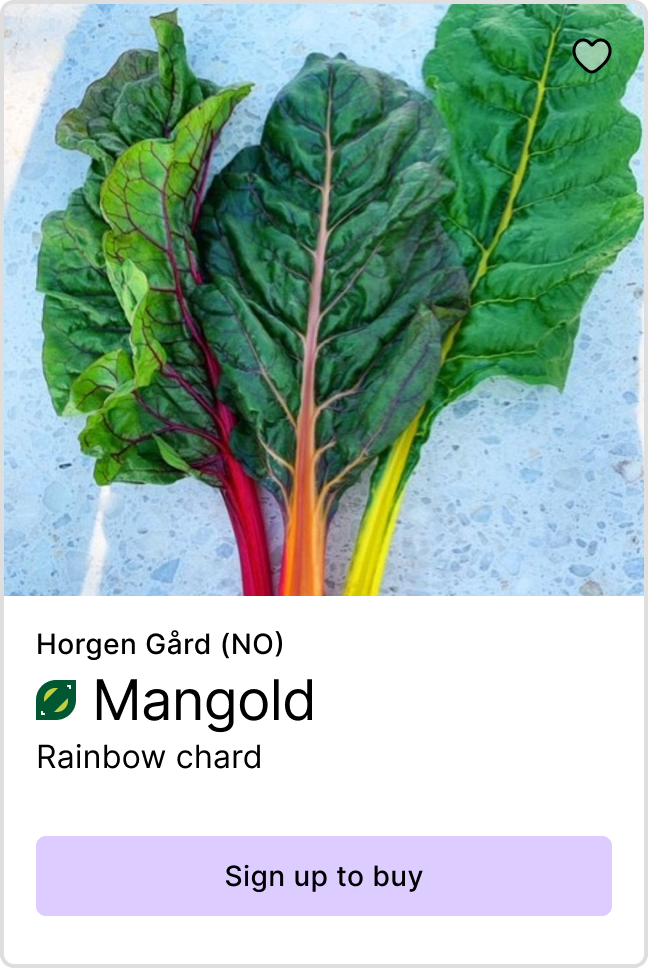 Product preview of Ecological mangold from Horgen gård - Link to sign up