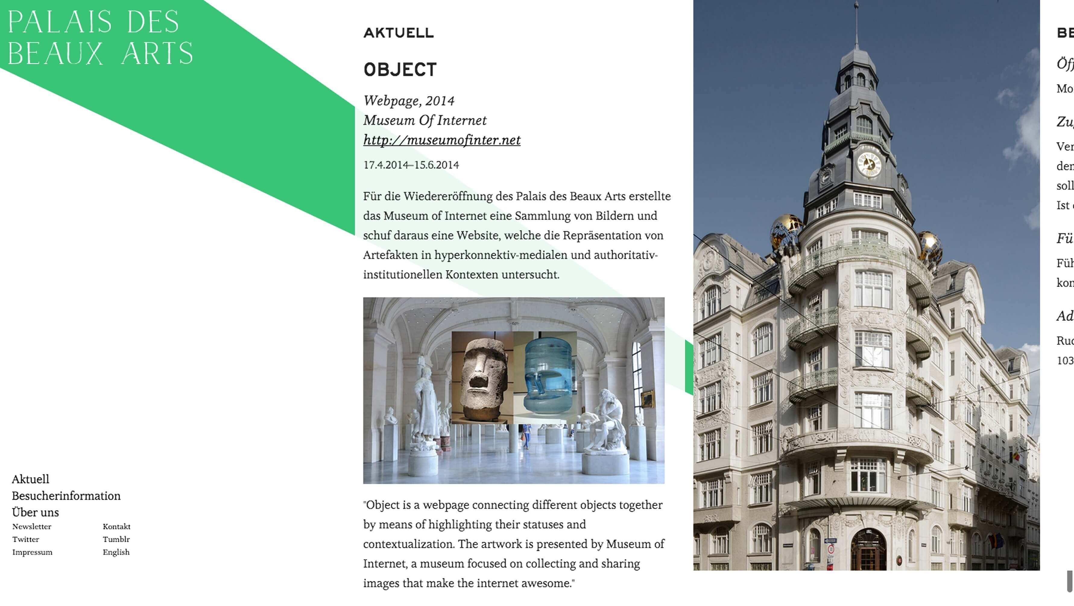 Palais des Beaux Arts Website