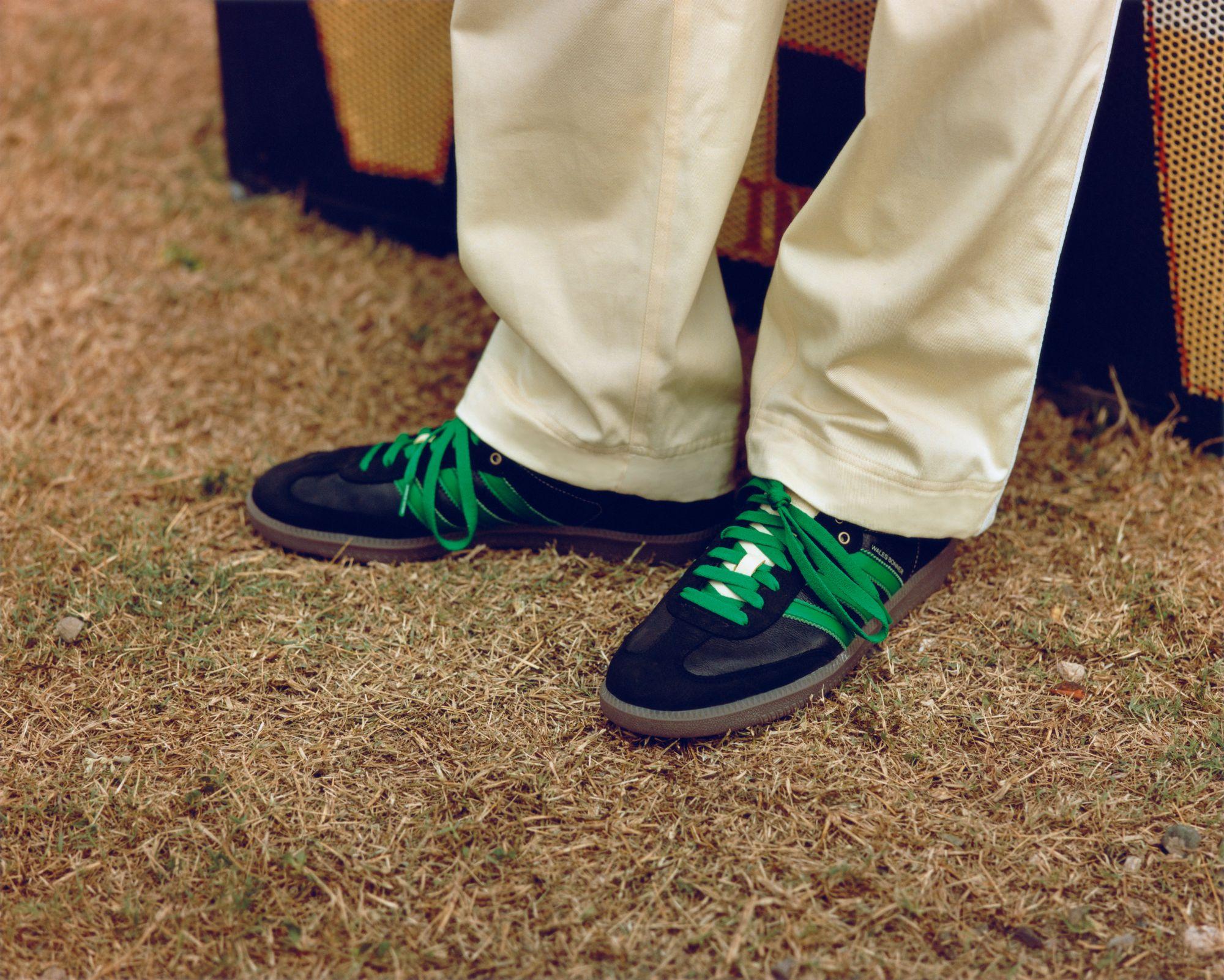 adidas Originals x WALESBONNERSamba on feet