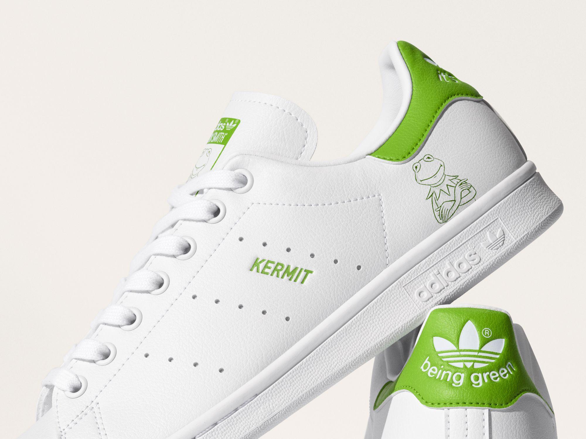 adidas Originals x Disney Stan Smith Kermit The Frog - white/green - FX5550