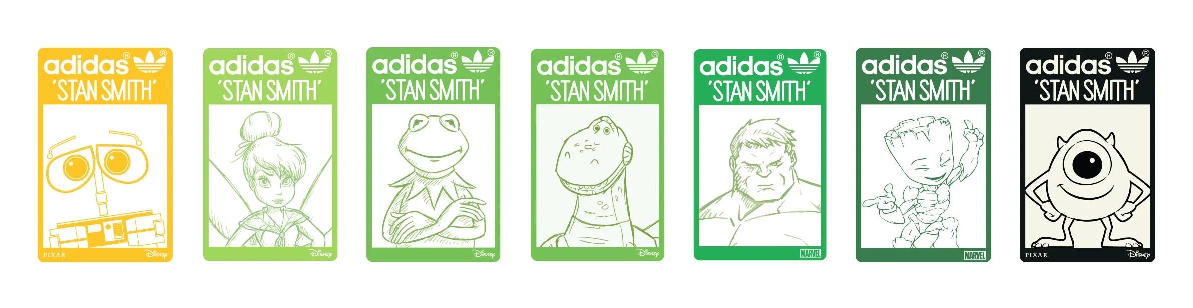 adidas x disney x pixar x marvel - stan smith collection release date