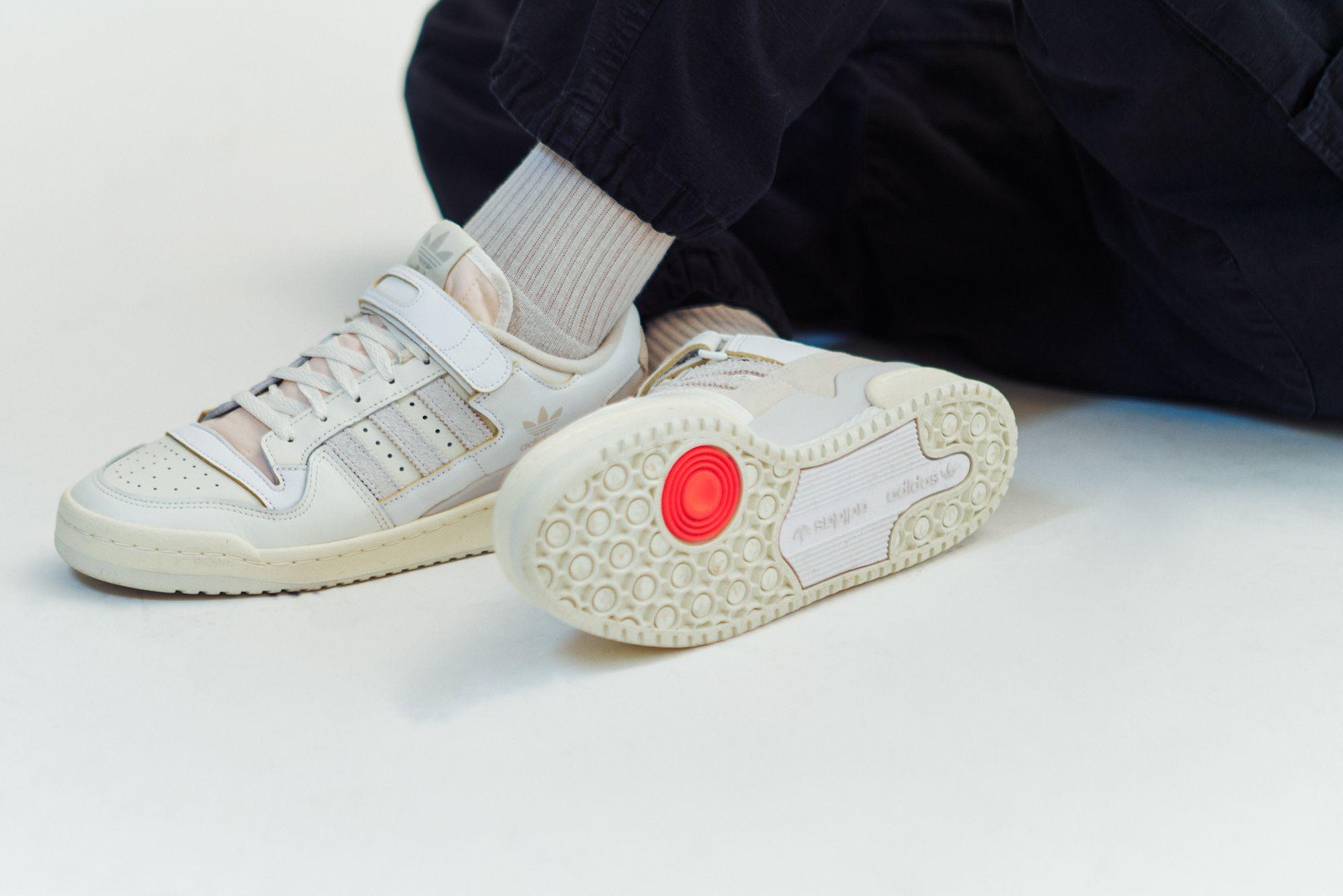 adidas Forum 84 Low - grey one/orbit grey/footwear white - FY4577 mit Klettverschluss