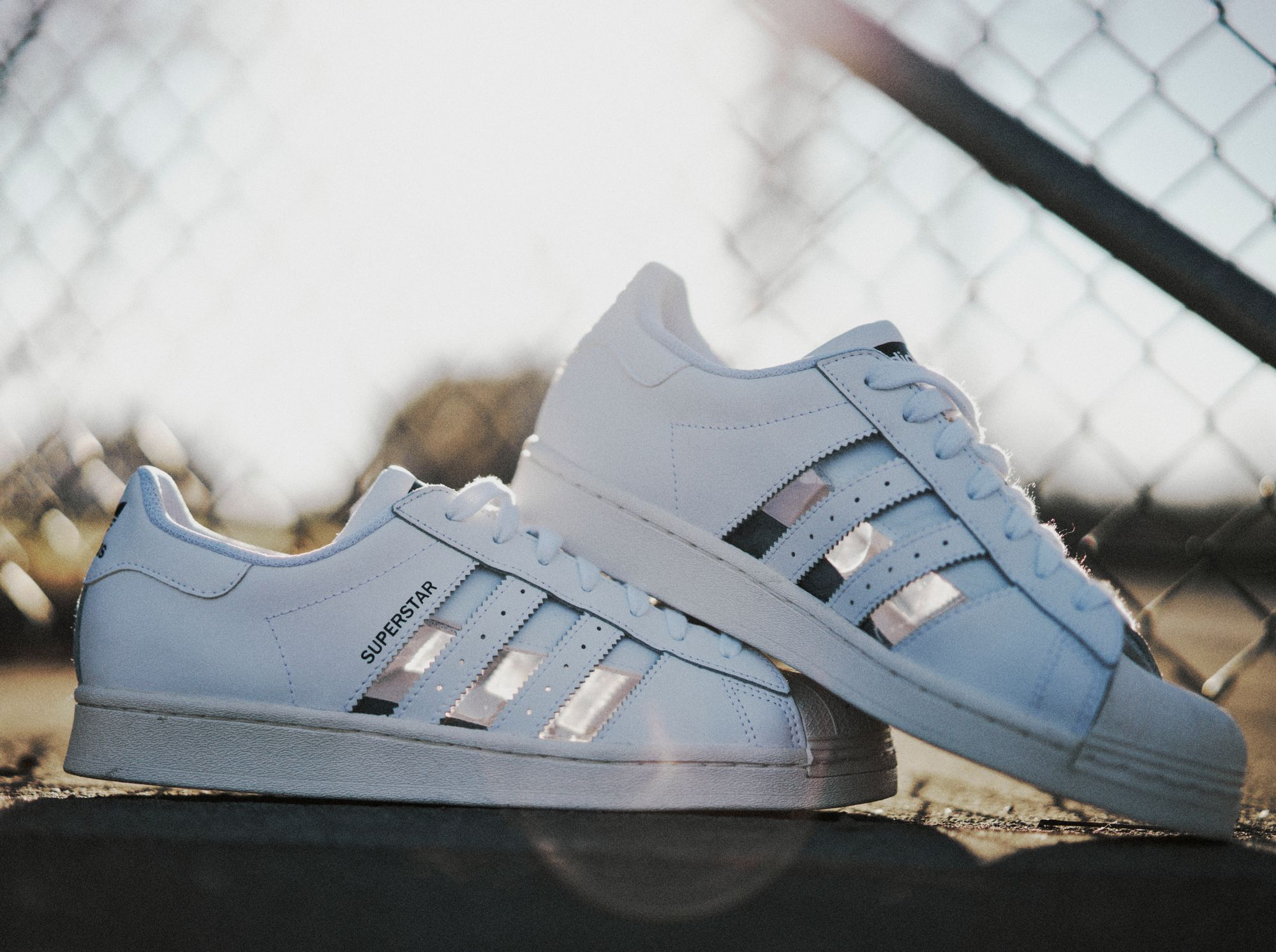 "adidas Originals Superstar ""see-through Stripes"" - cloud white - FY7717"