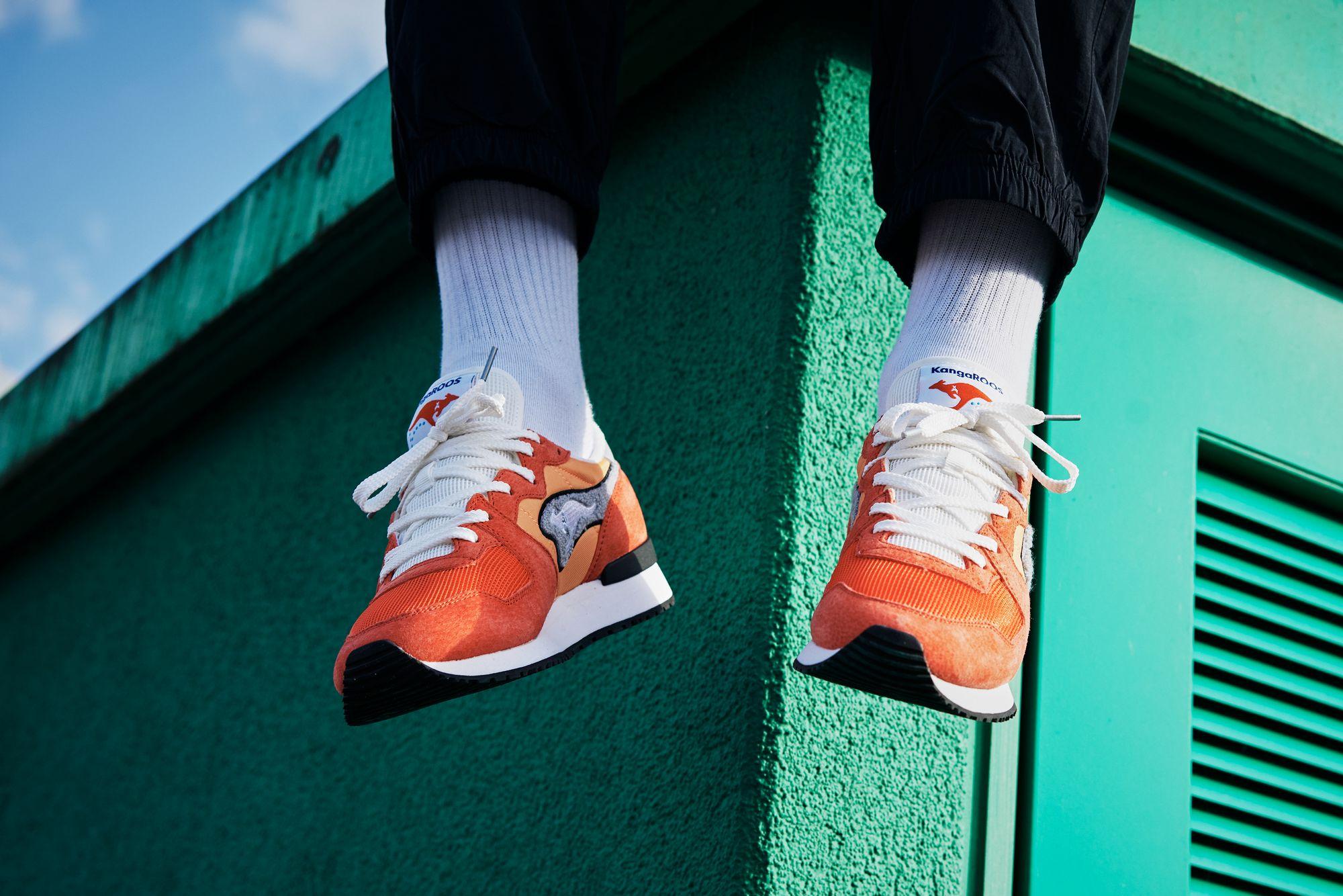 KangaROOS RED - Aussie Classic OG Pop - orange - on feet