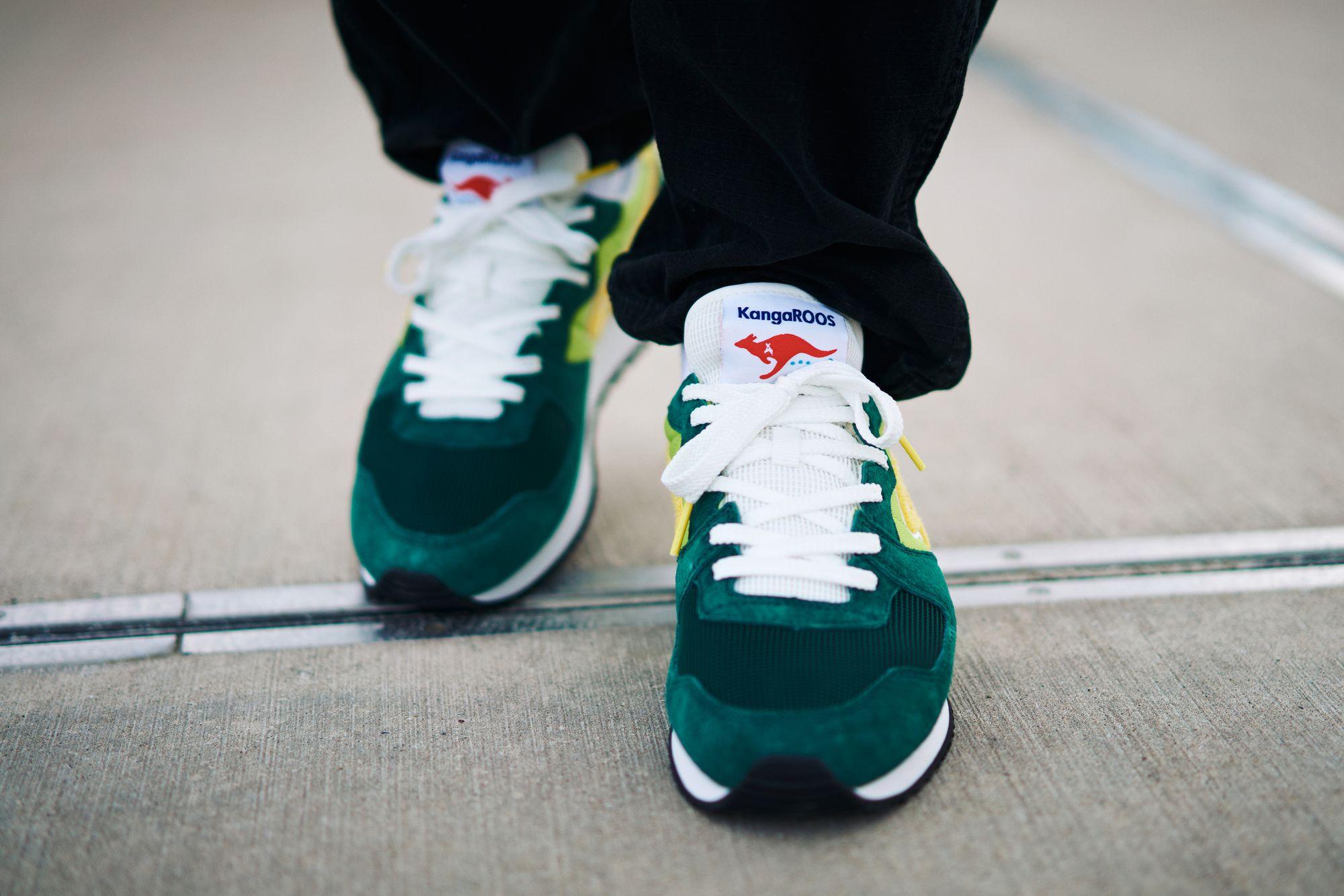 KangaROOS RED - Aussie Classic OG Pop - green - on feet