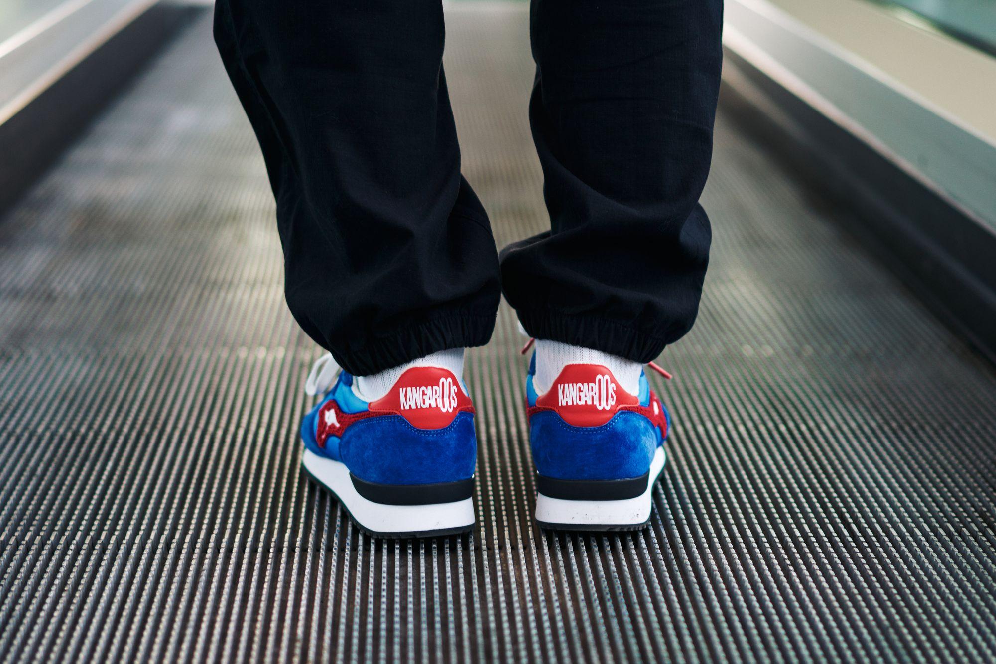KangaROOS RED - Aussie Classic OG Pop - blue - on feet