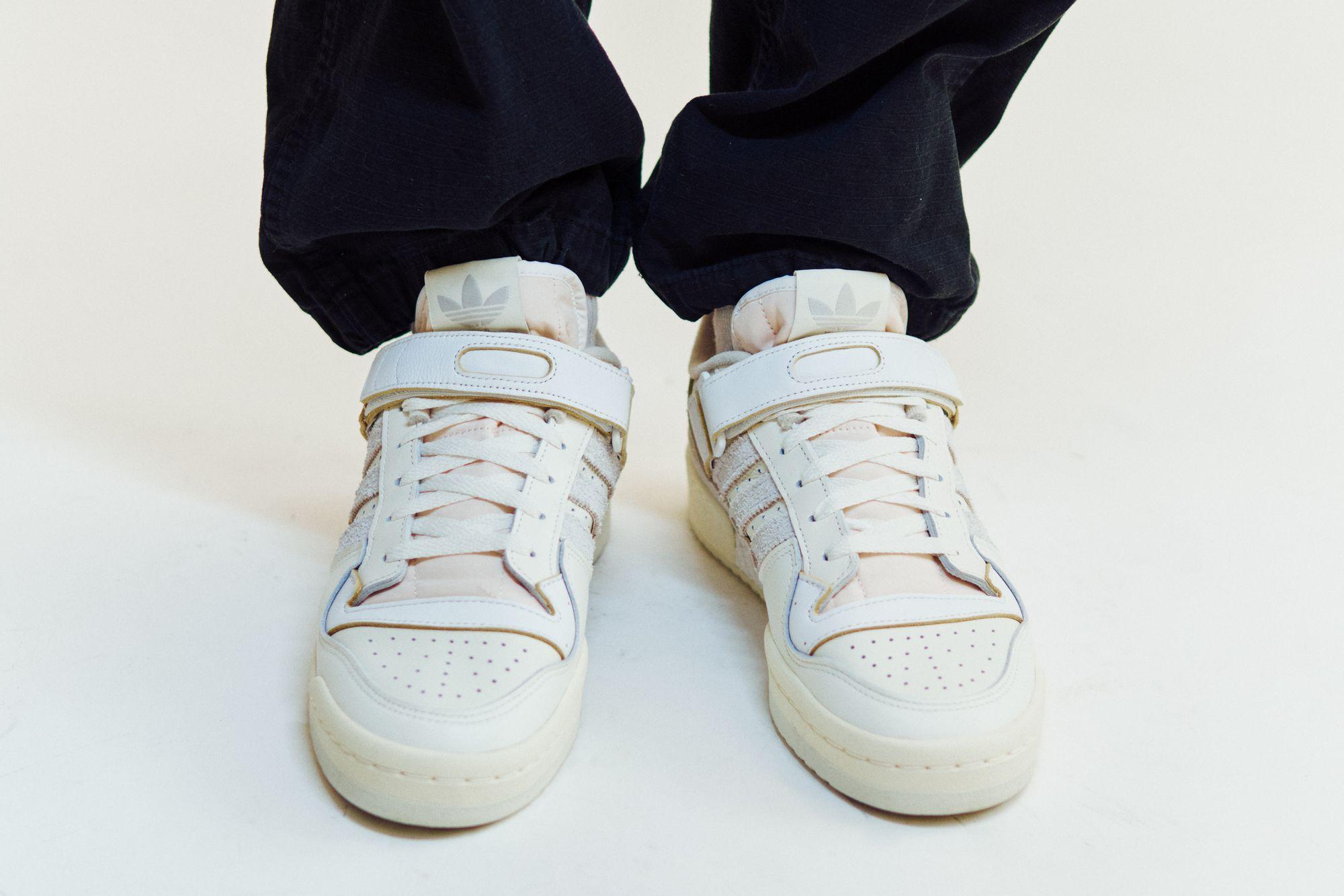 adidas Forum 84 Low - grey one/orbit grey/footwear white - FY4577 on feet