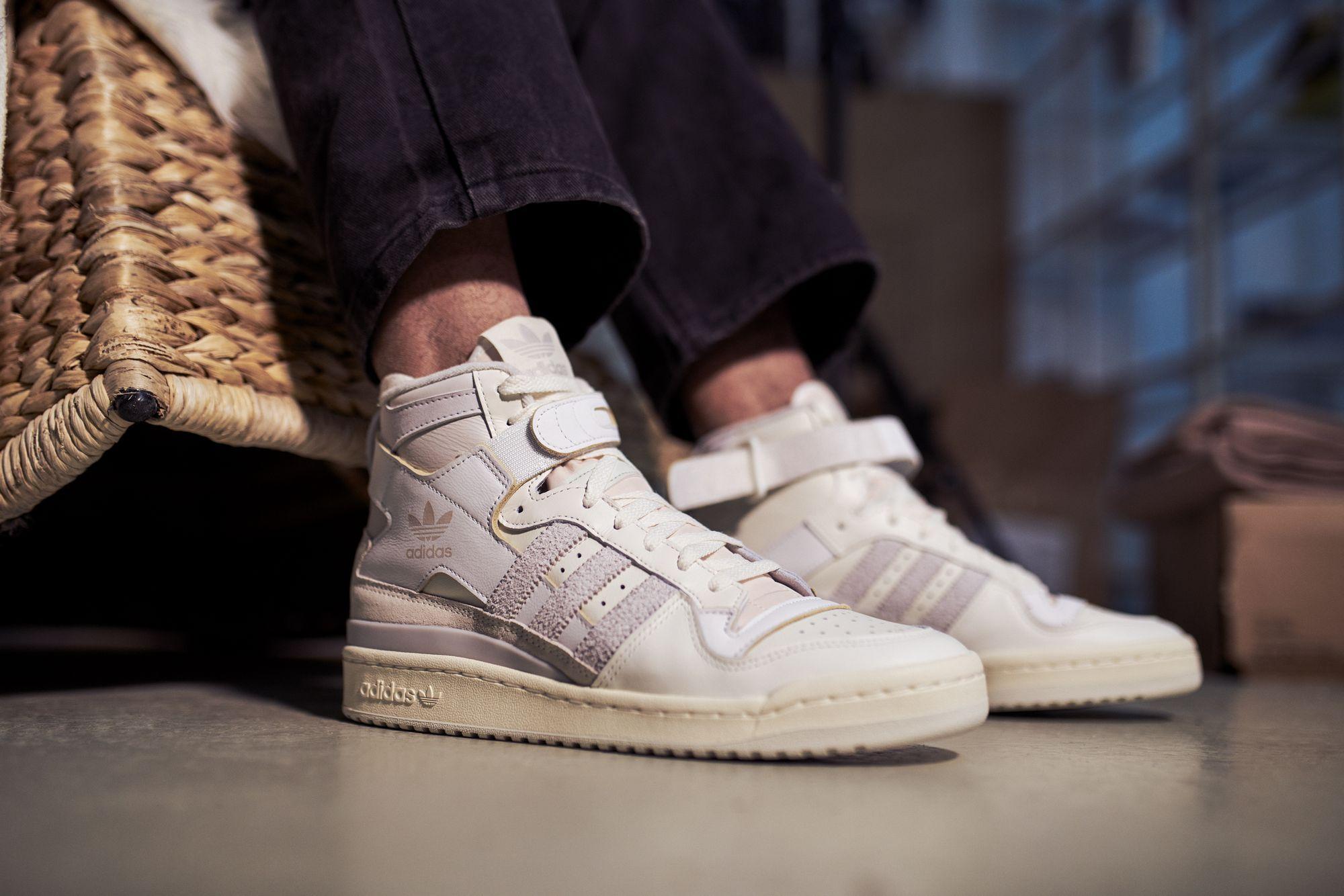 adidas Forum 84 High - grey one/orbit grey/footwear white - FY4576 on feet