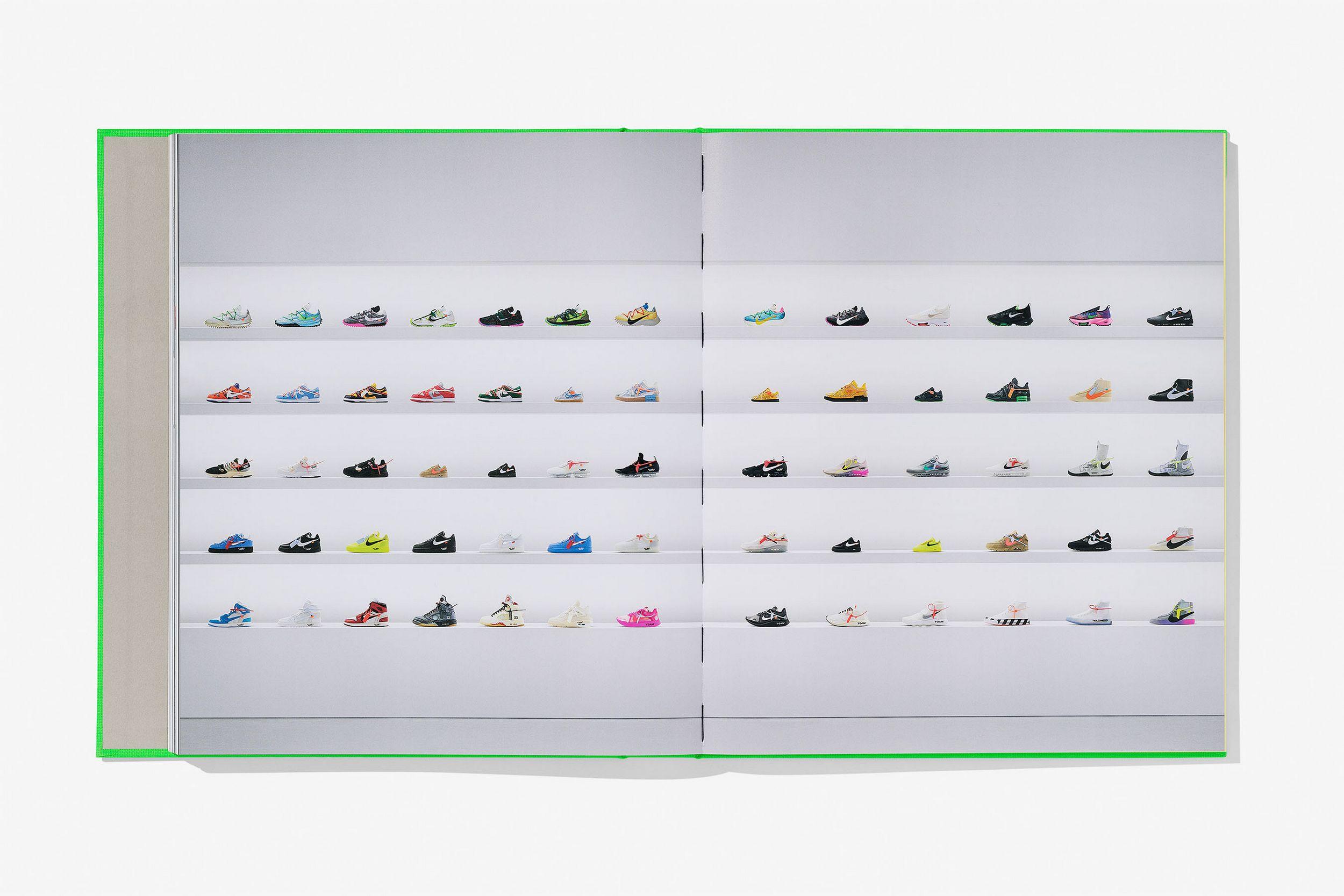 Nike x Off-White sneaker shelf