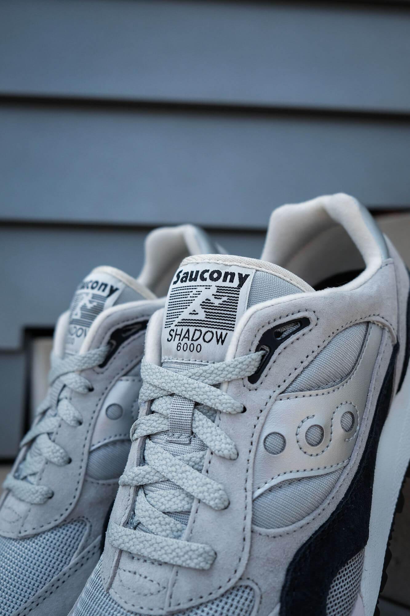 tongue details - Saucony Originals Shadow 6000 - silver/grey - S70441-7