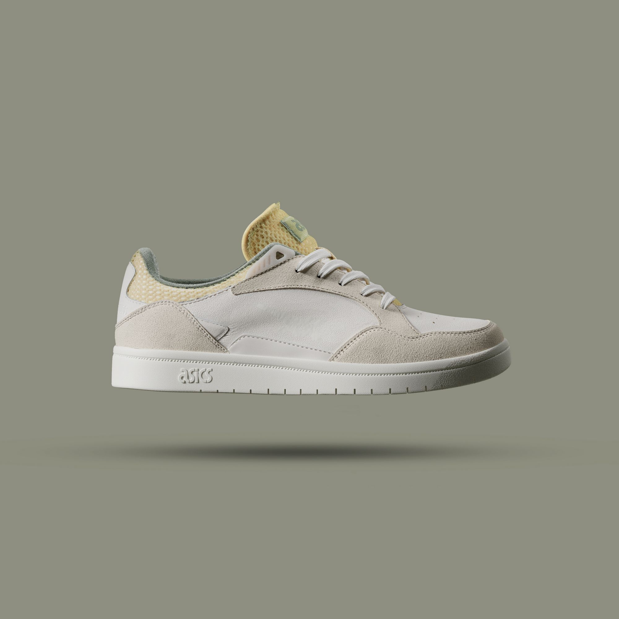 side photo of the ASICSSportstyle x Above The Clouds - Skycourt - birch/sage green - 1201A39-200
