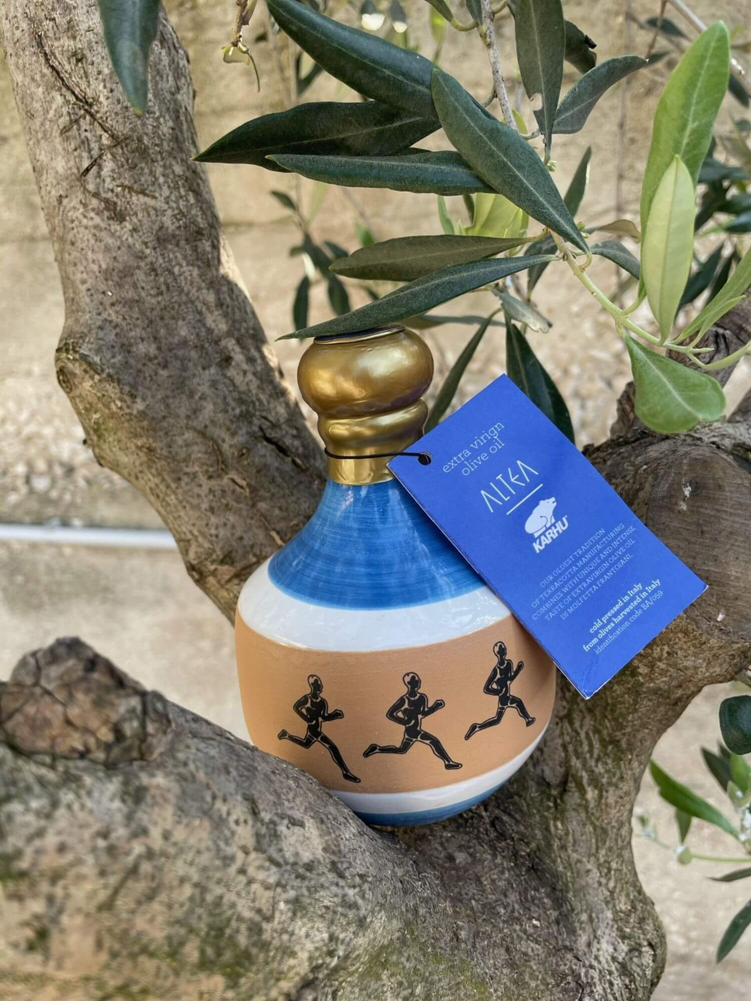 "photo of the KARHU × DI MOLFETTA FRANTOIANI ""LIQUID GOLD� bottle"