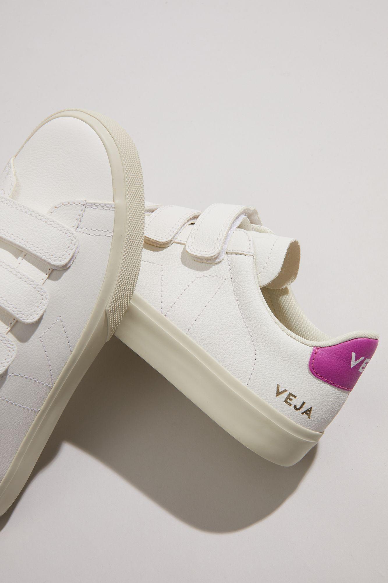 VEJA - Recife - white/ultraviolet pink velcro sneakers