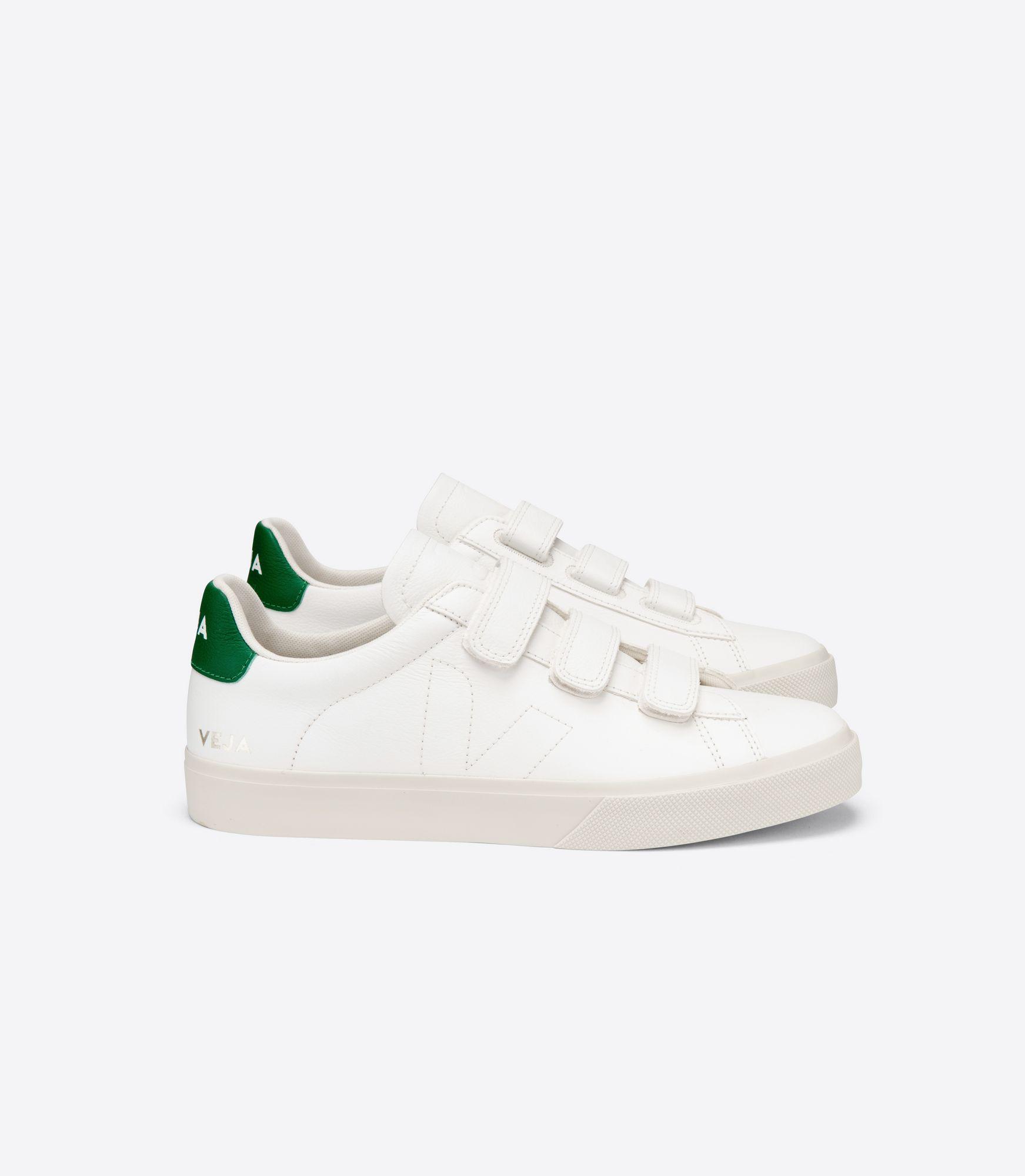 VEJA - Recife - white/emeraude velcro sneaker