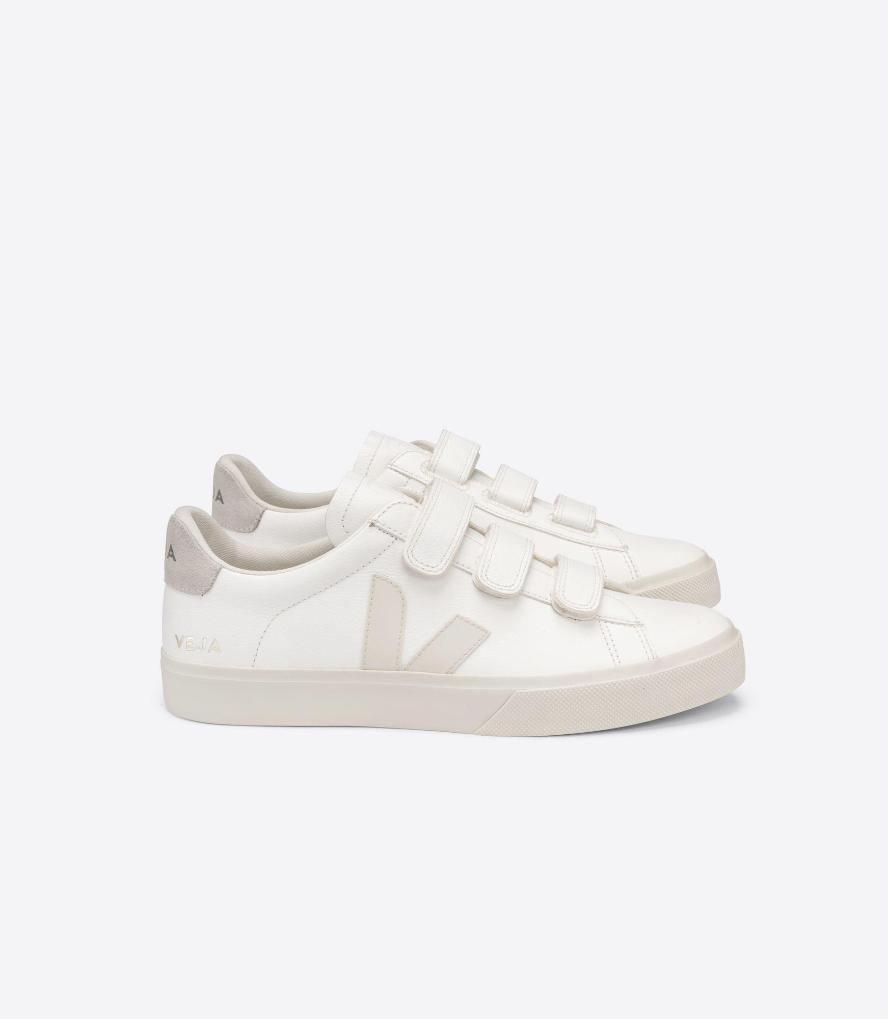VEJA - Recife - white/pierre/natural velcro sneaker