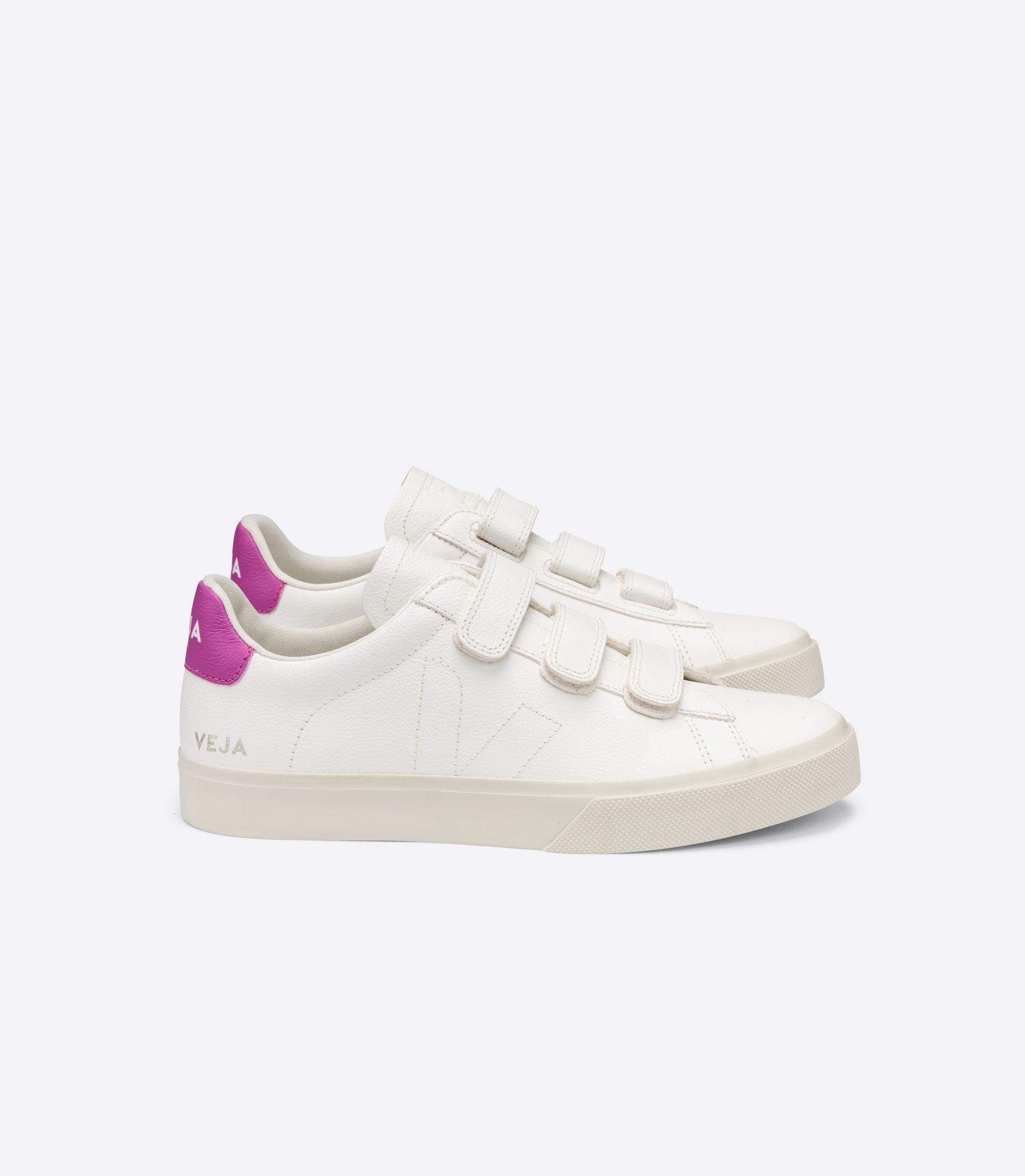 VEJA - Recife - white/ultraviolet pink velcro sneaker
