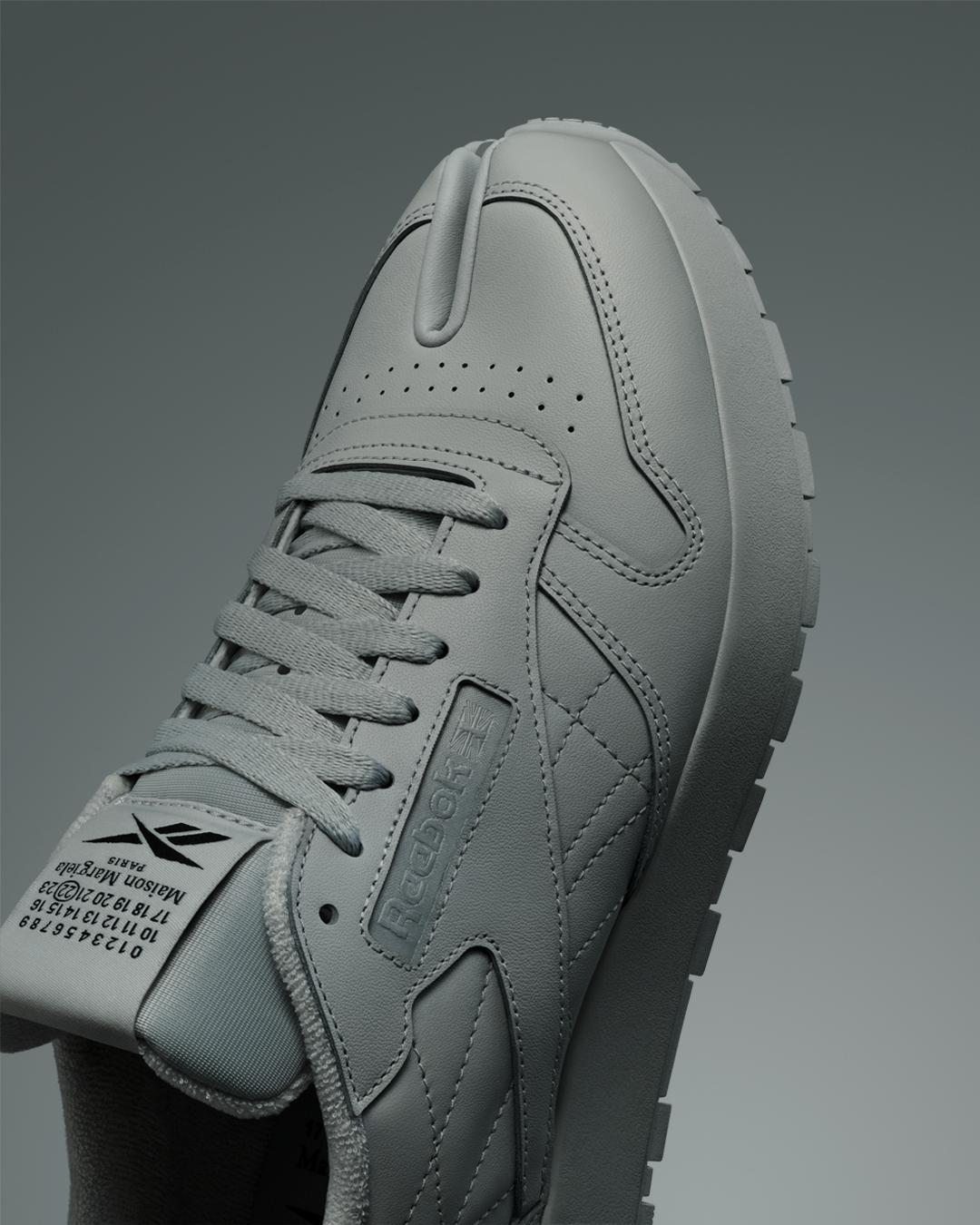 Reebok x Maison Margiela Classic Leather Tabi - Pure Grey 2 / Black / White - H05534