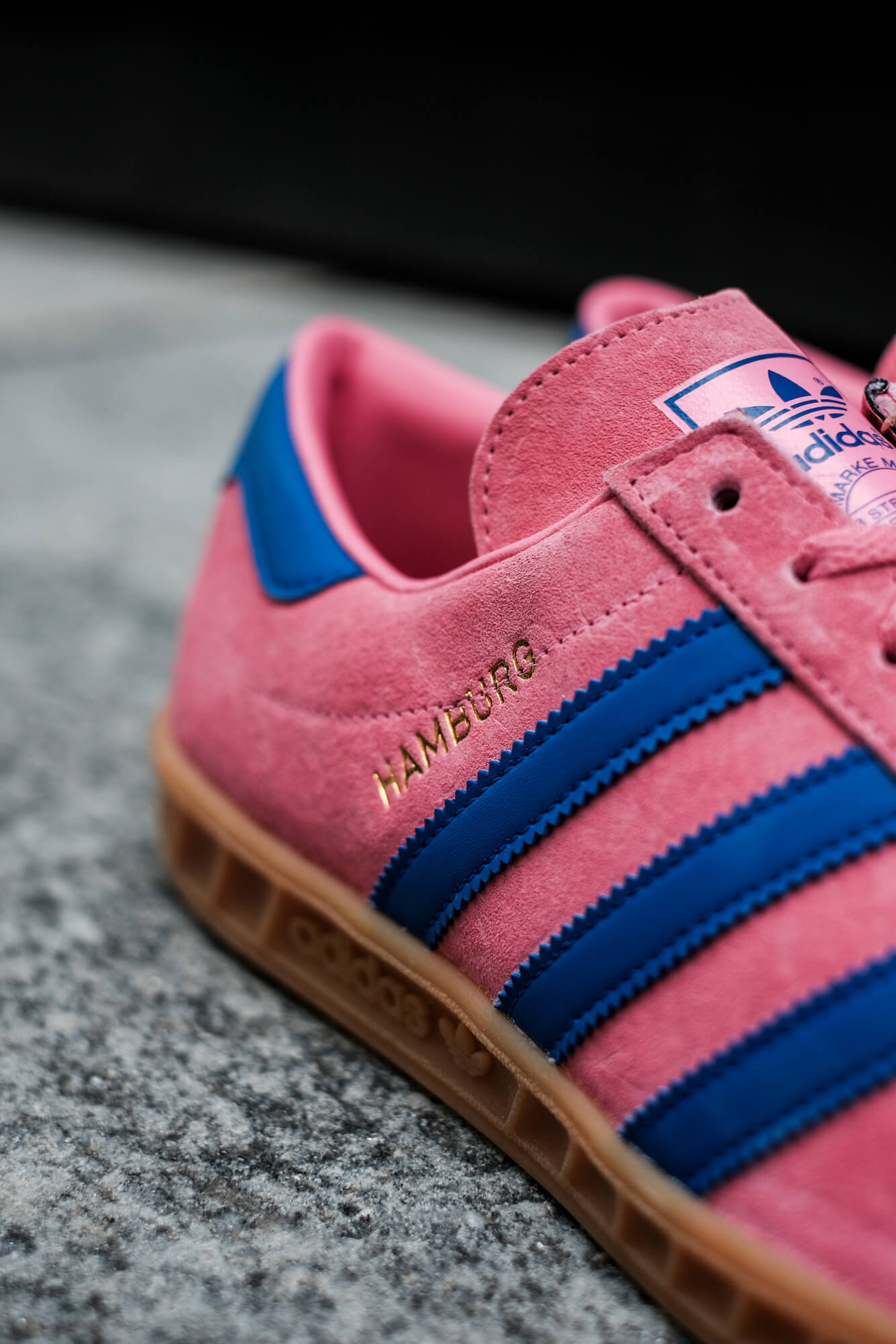 adidas Hamburg - roston/boblue/gum2 - H00446 pink blue gum