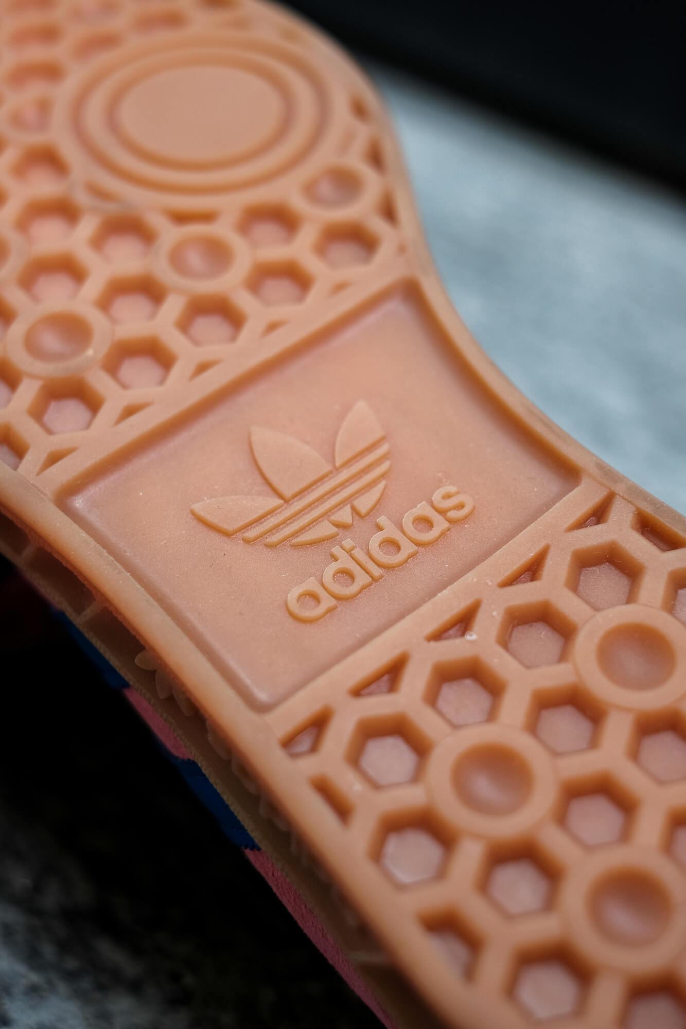 detail of the gum sole, adidas Hamburg - roston/boblue/gum2 - H00446