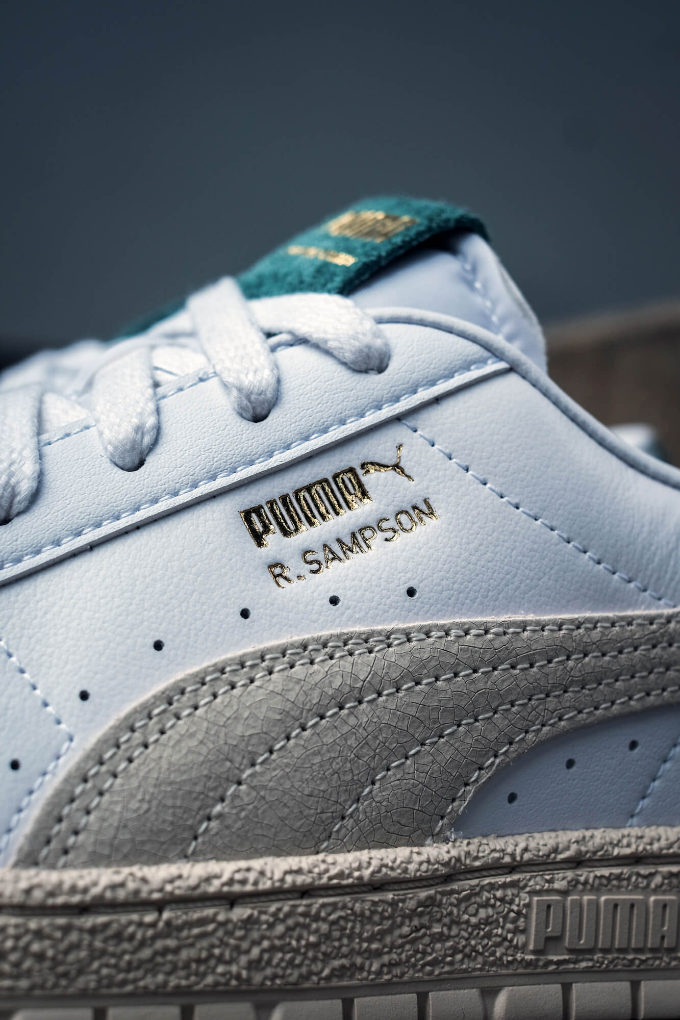 "details of the PUMA- Ralph Sampson 70 Lo ""Earthbreak"" - puma white/eggnog - 375474-01"
