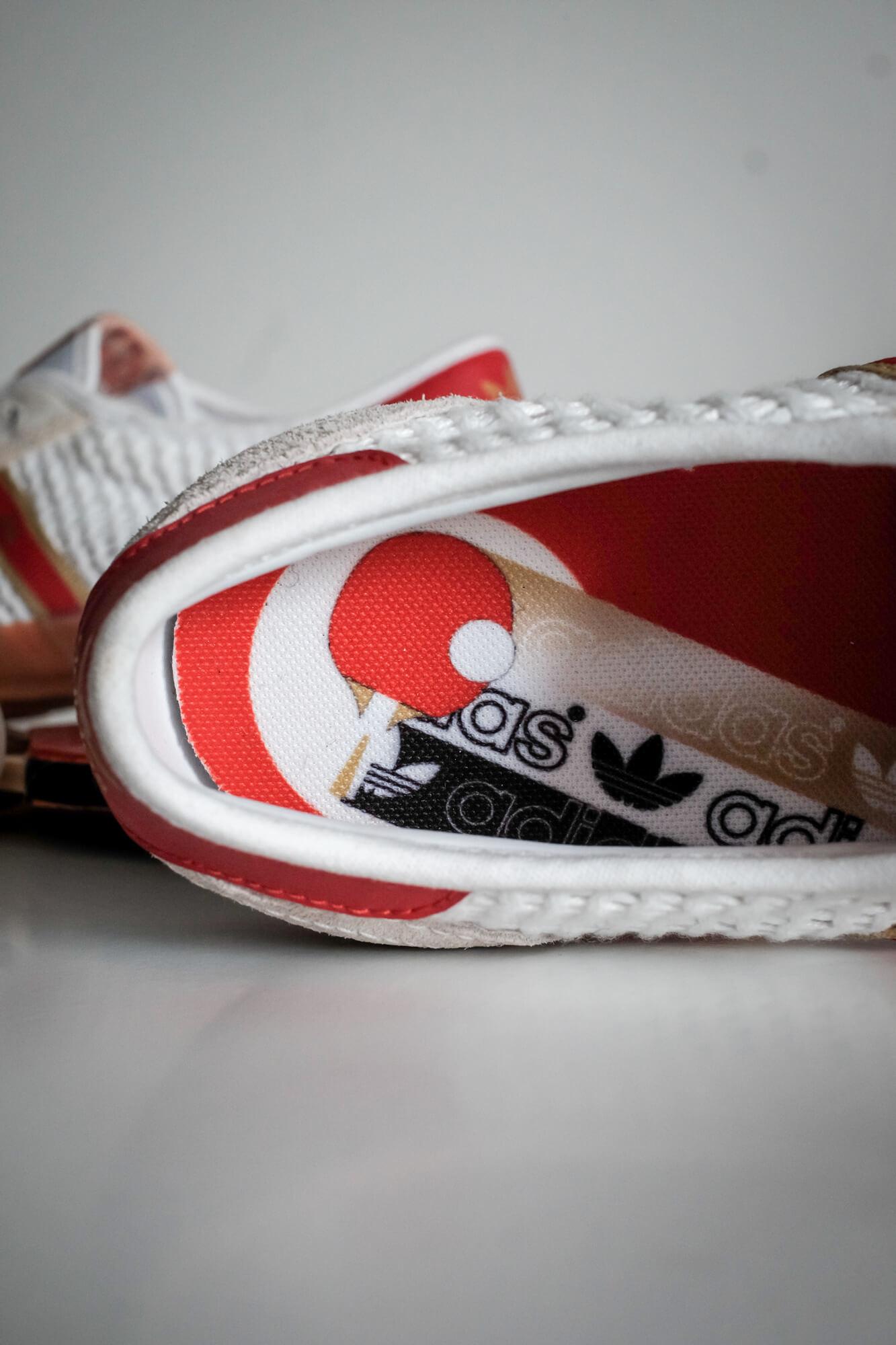 close-up insole sneaker: adidas - Tischtennis - footwear white/team college red/core white - H01796