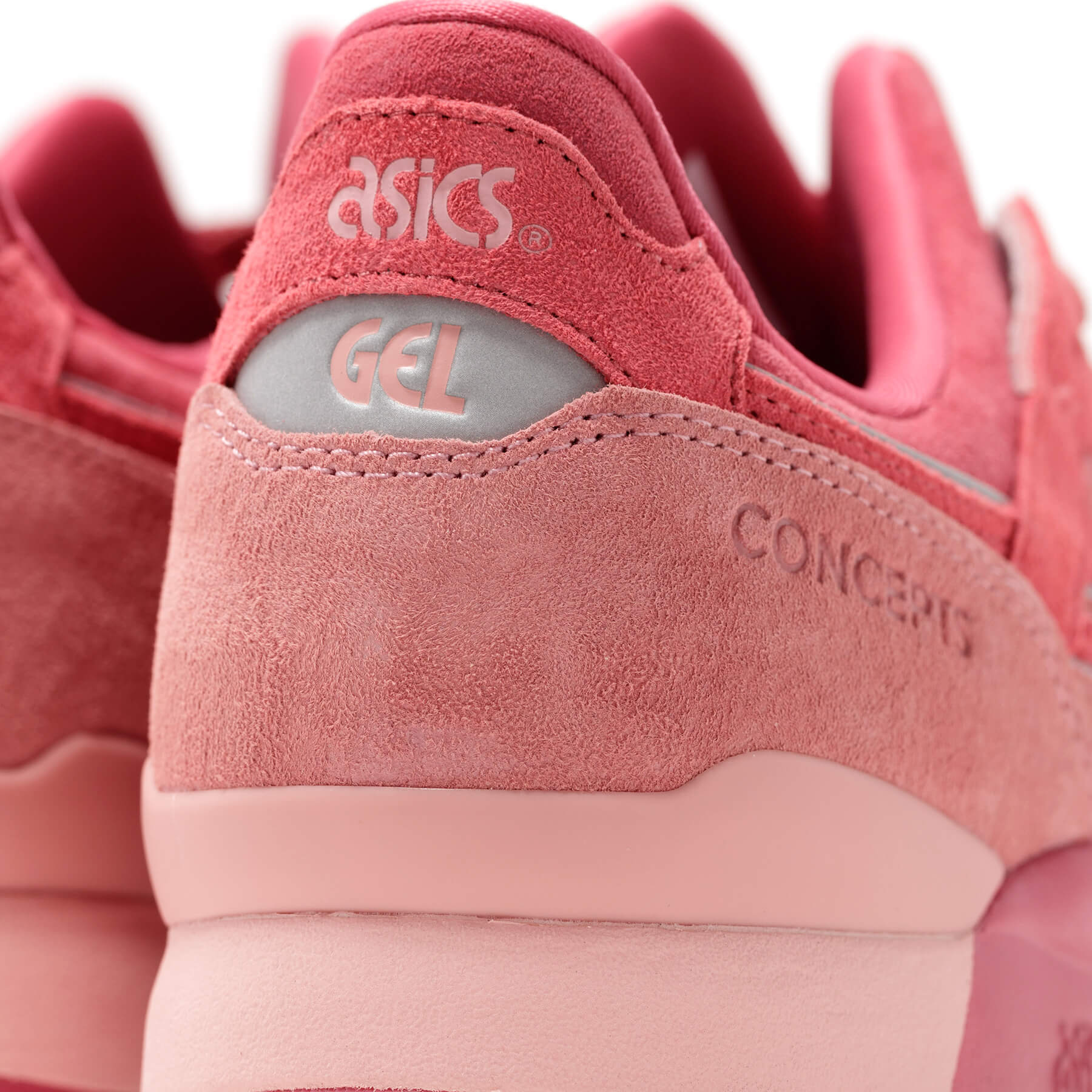 """details - heel of the ASICS SportStyle x Concepts - GEL-LYTE III OG - """"Otoro"""" - 1203A121-700 - Coral Cloud /Pure Silver"""