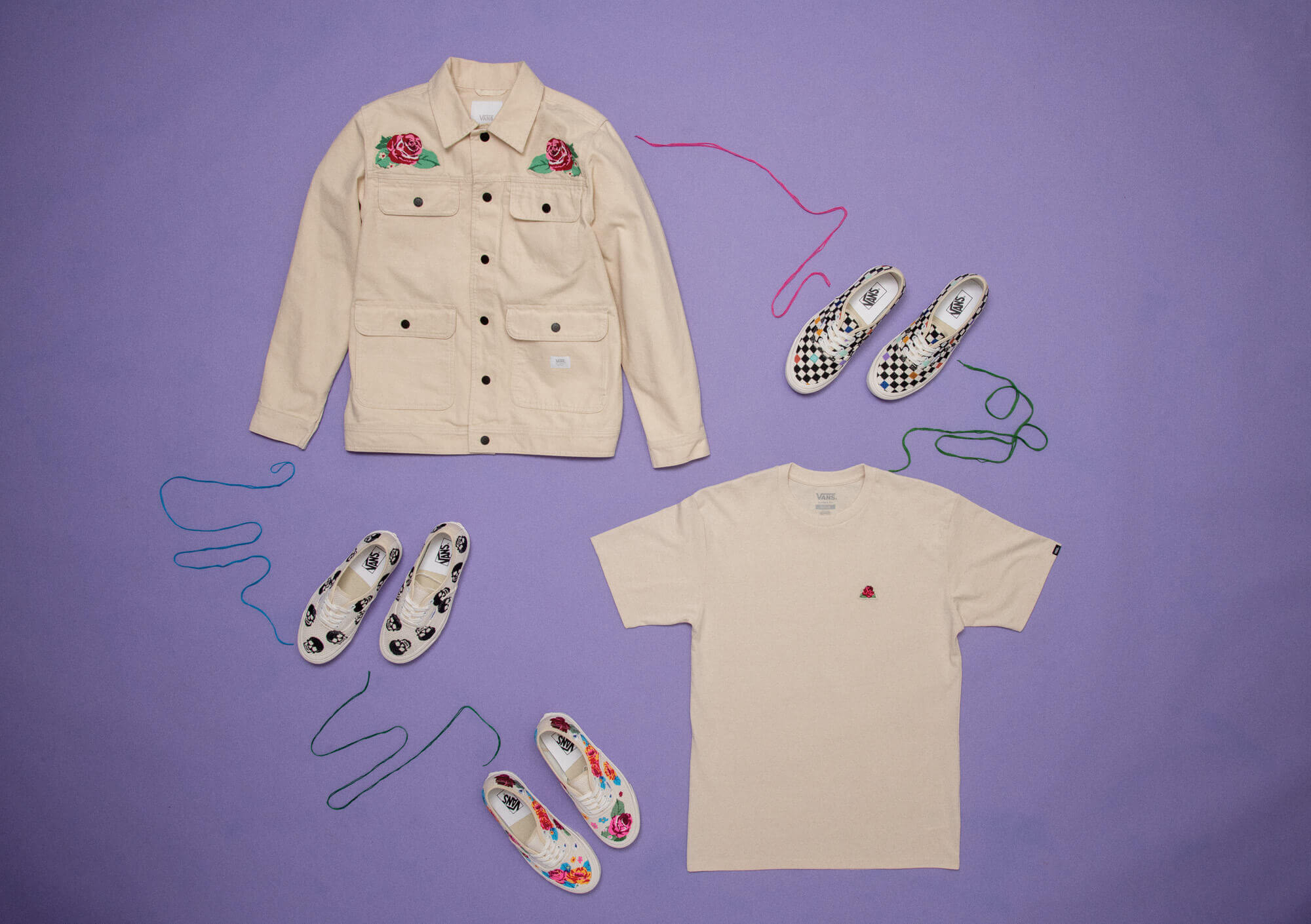 Vans - Anaheim Factory - Needlework Collection - Authentic 44DX and apparel jacket and shirt