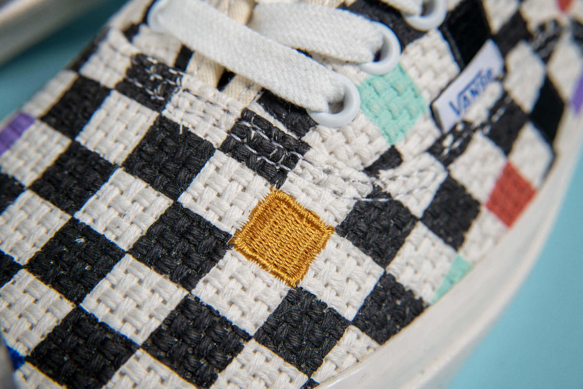 details checkerboard toe box - Vans - Anaheim Factory - Needlework Collection - Authentic 44DX