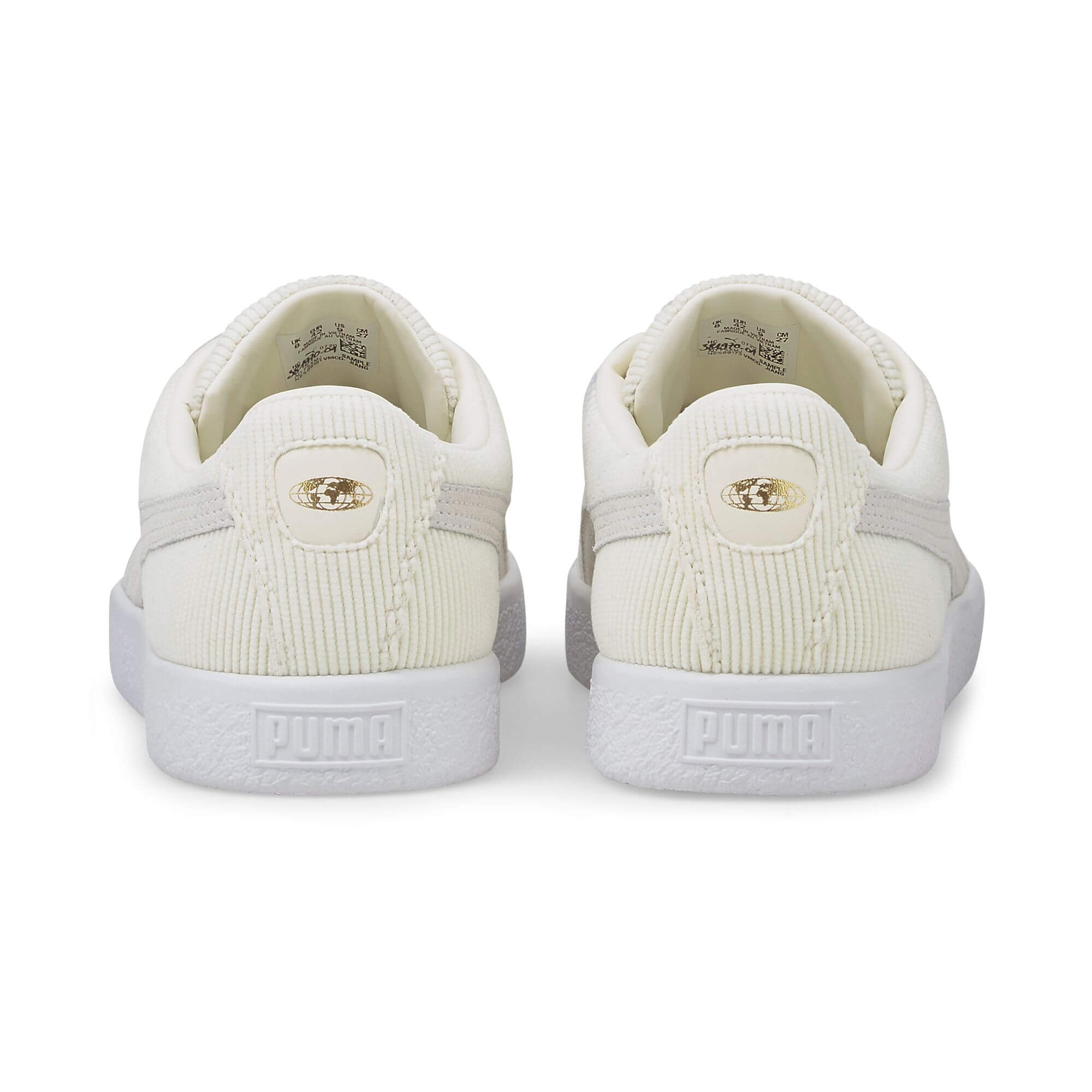"heel view - PUMA x BUTTERGOODS- Basket Vintage - ""Cord"""